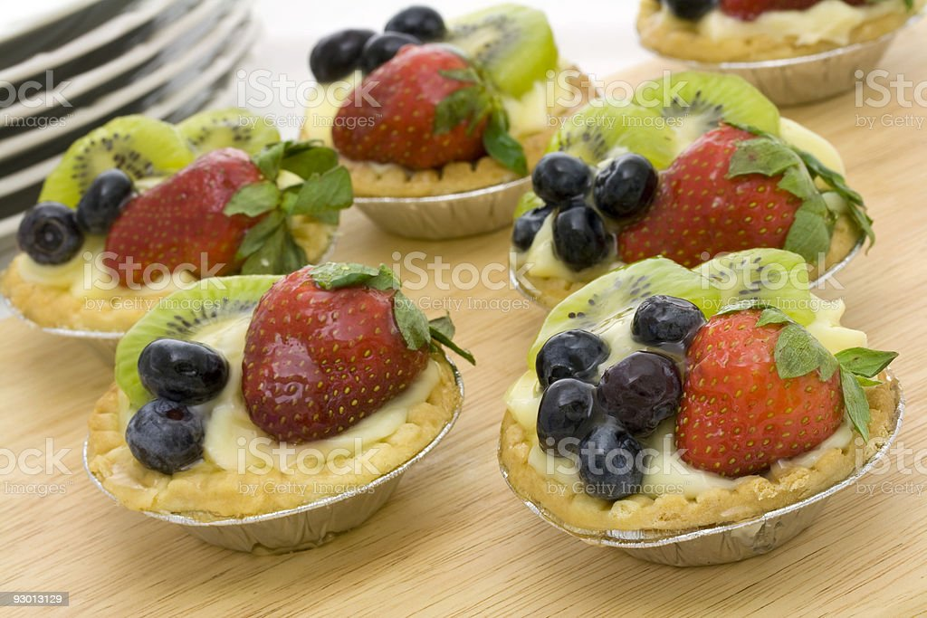 Colorful tartlets royalty-free stock photo