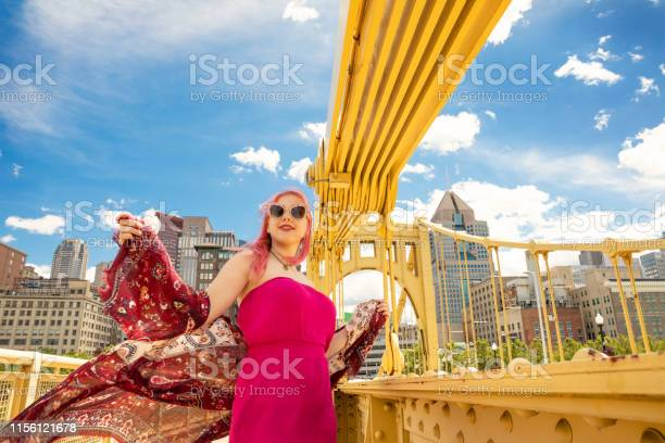 Colorful Teen In Pittsburgh Stock Photo - Download Image Now
