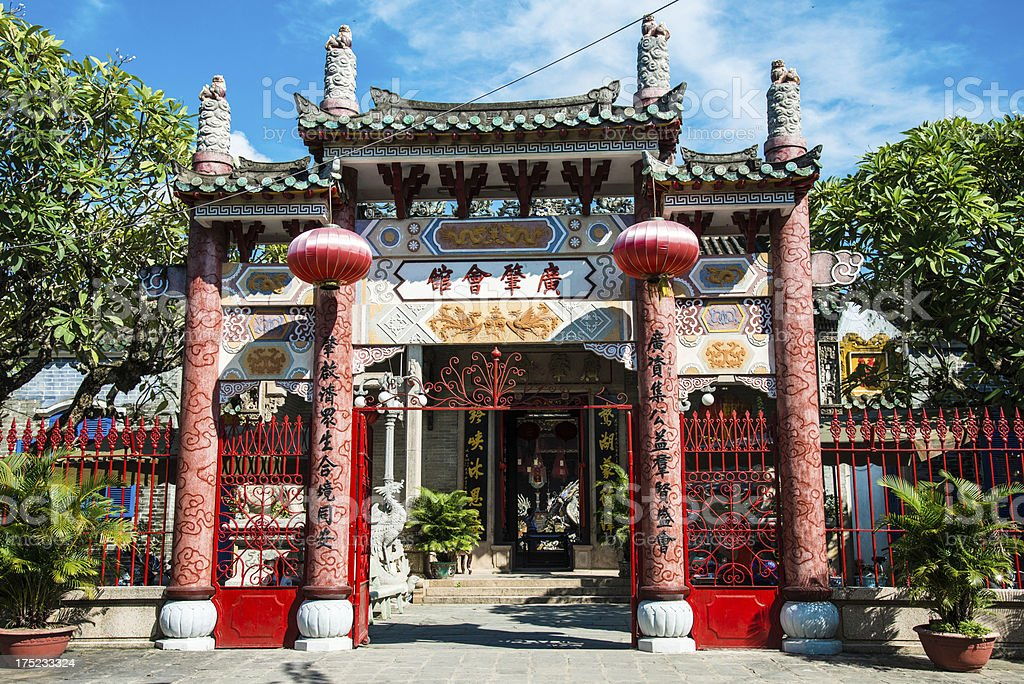 Colorful Temple Hoi An Vietnam royalty-free stock photo