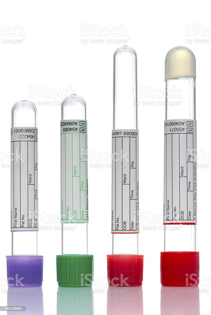 Colorful test tubes royalty-free stock photo
