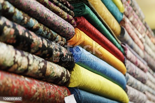 Colorful textiles at Grand Bazaar, Istanbul