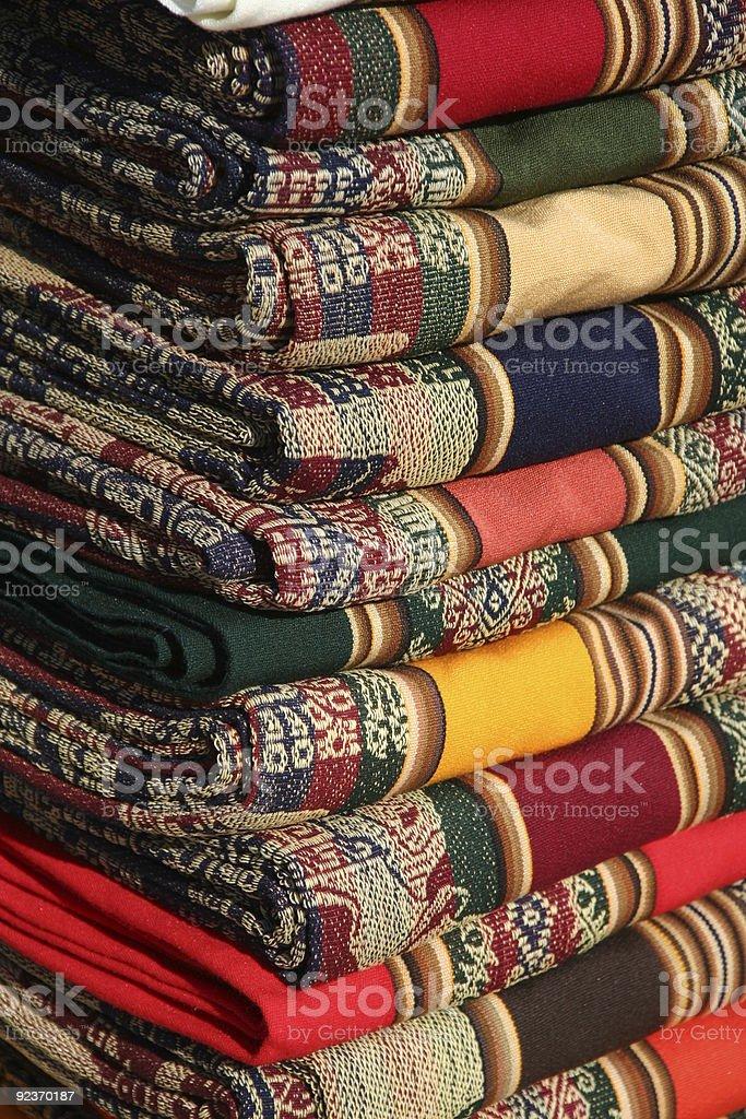Farbenfrohe Textilien in Argentinien Lizenzfreies stock-foto