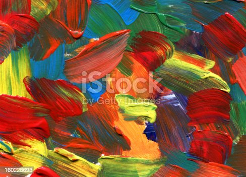 istock colorful textured Abstract Paint 160228693