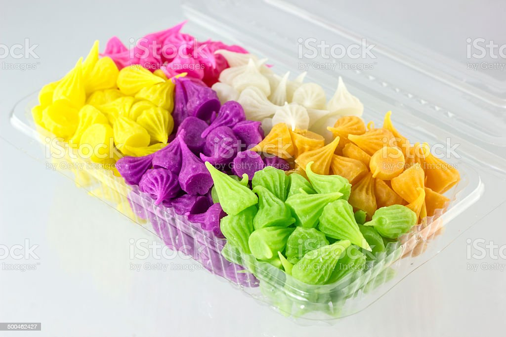Colorful Thai desserts royalty-free stock photo