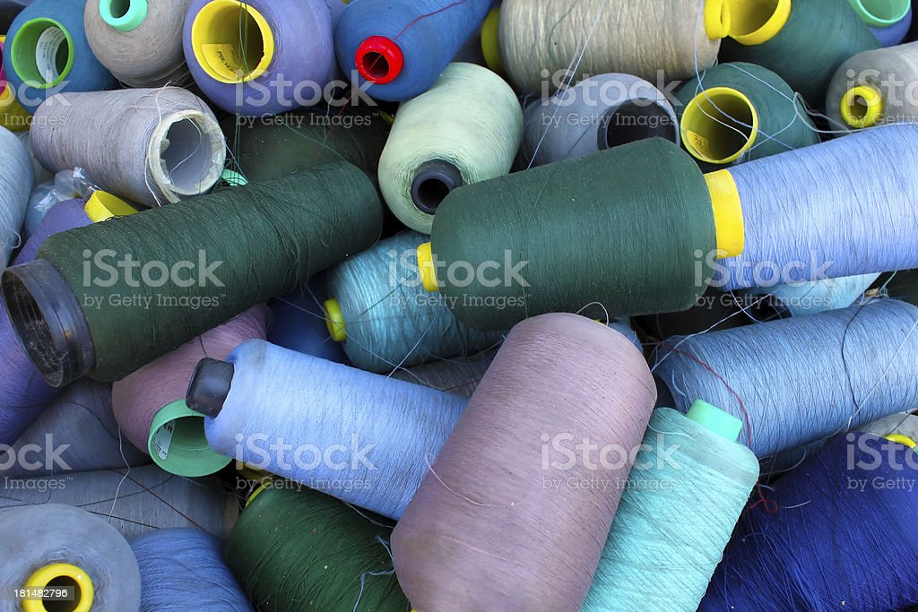 Colorful thread reels royalty-free stock photo
