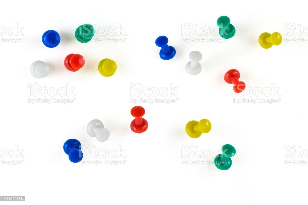 Colorful Thumbtacks stock photo