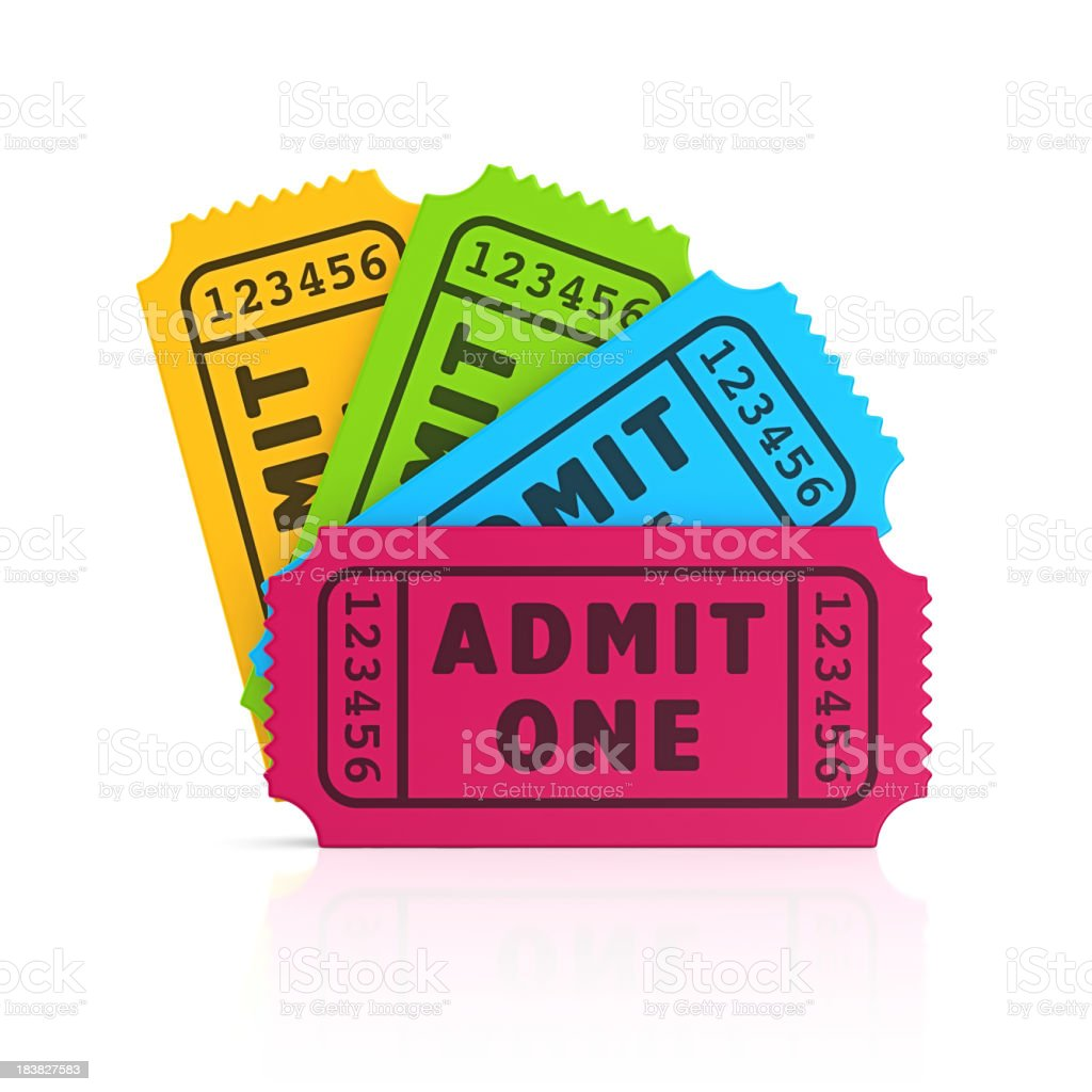 colorful tickets stock photo