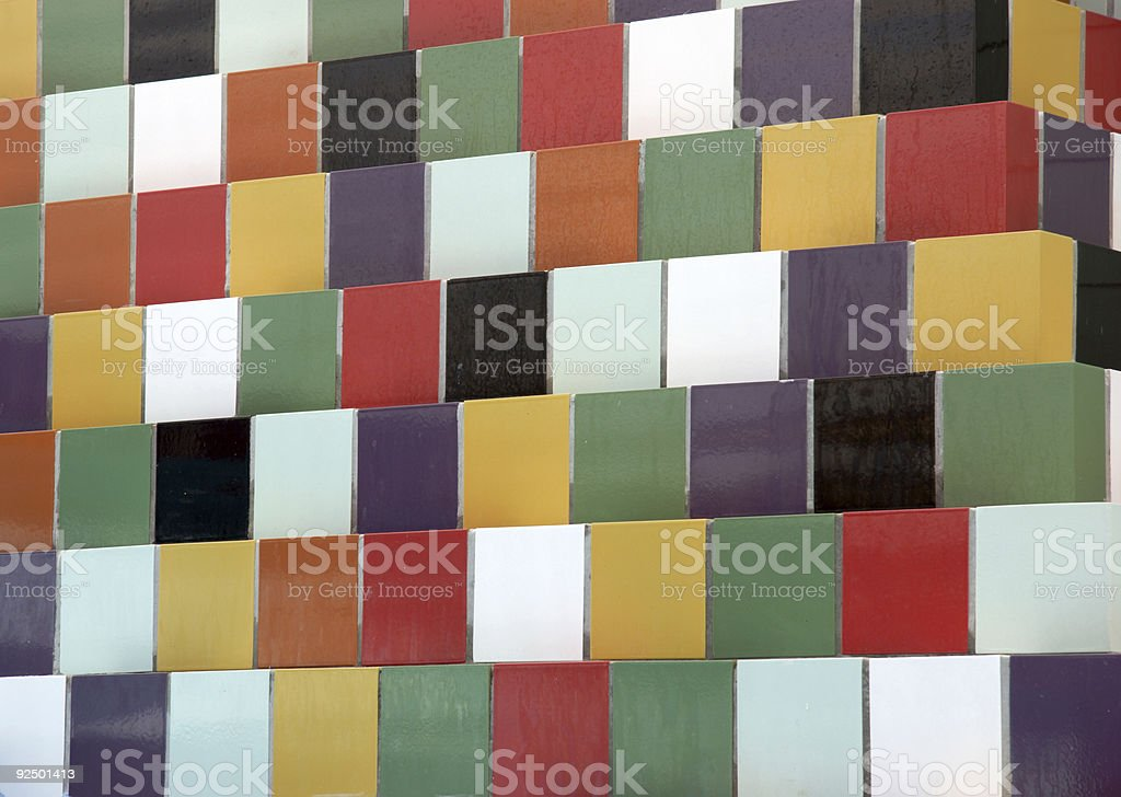 colorful tile wall royalty-free stock photo