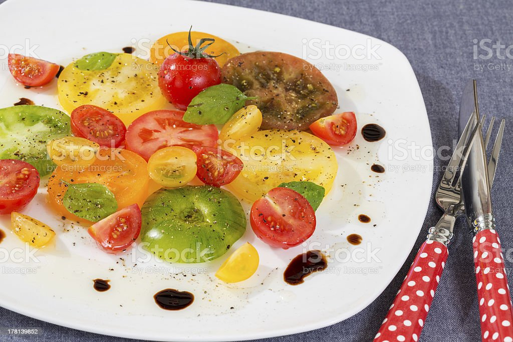 Colorful Tomato salad royalty-free stock photo