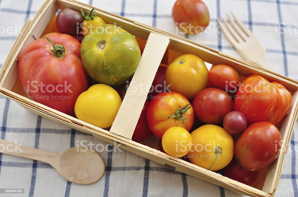 Colorful Tomatoes from the farmers market royalty-free stock photo