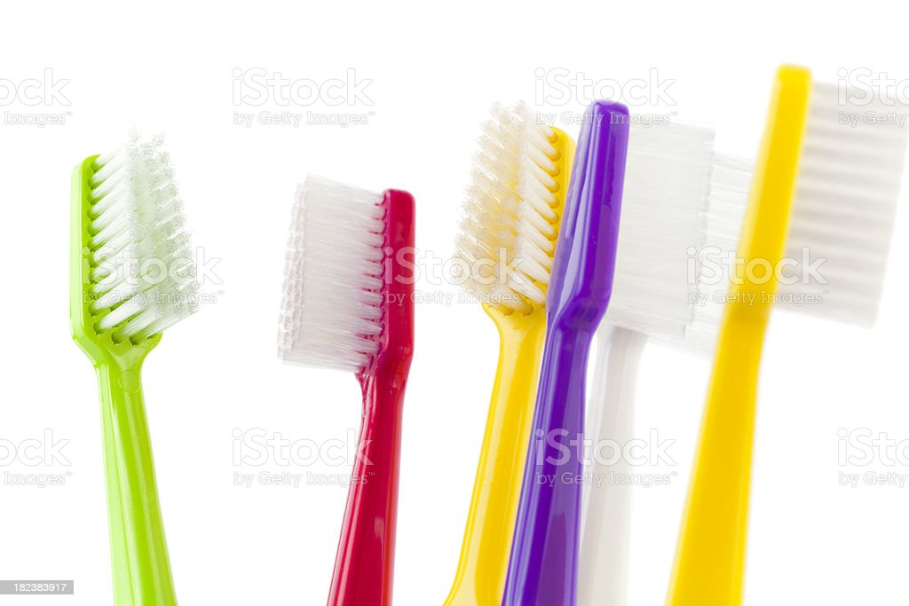 Colorful Toothbrushes royalty-free stock photo