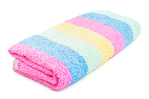 1131900491 istock photo Colorful towel isolated 953642250