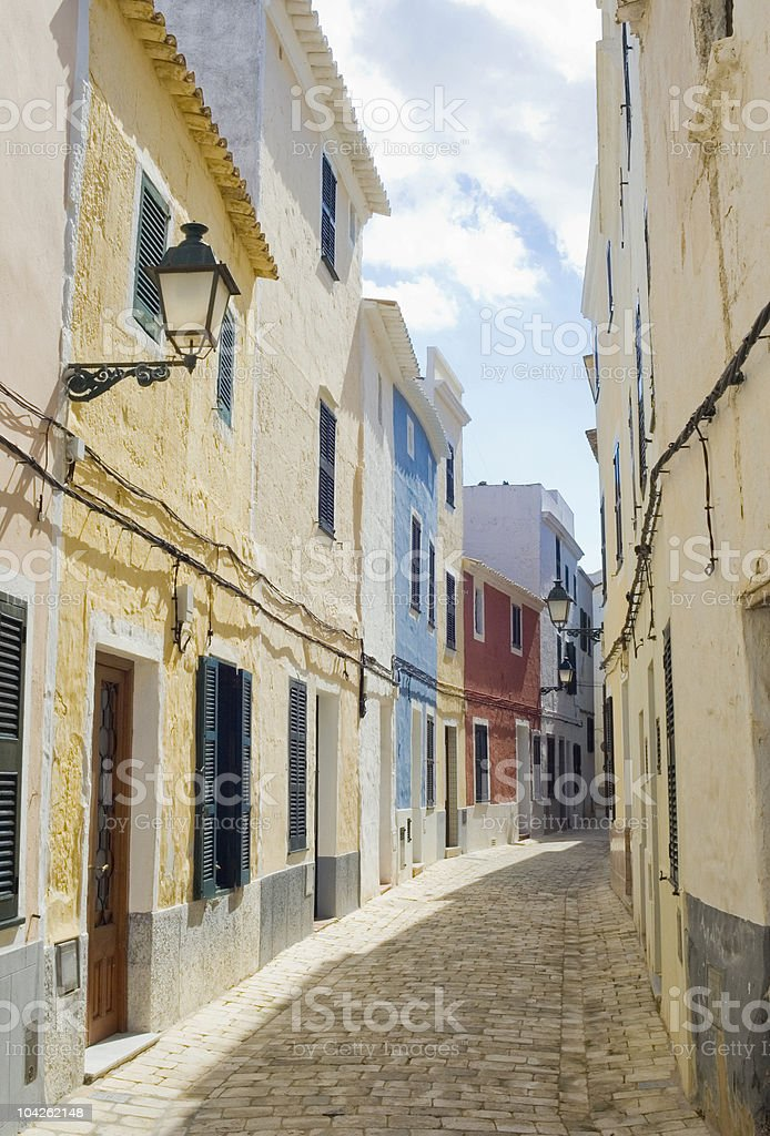 Colorful townhouses royalty-free stock photo