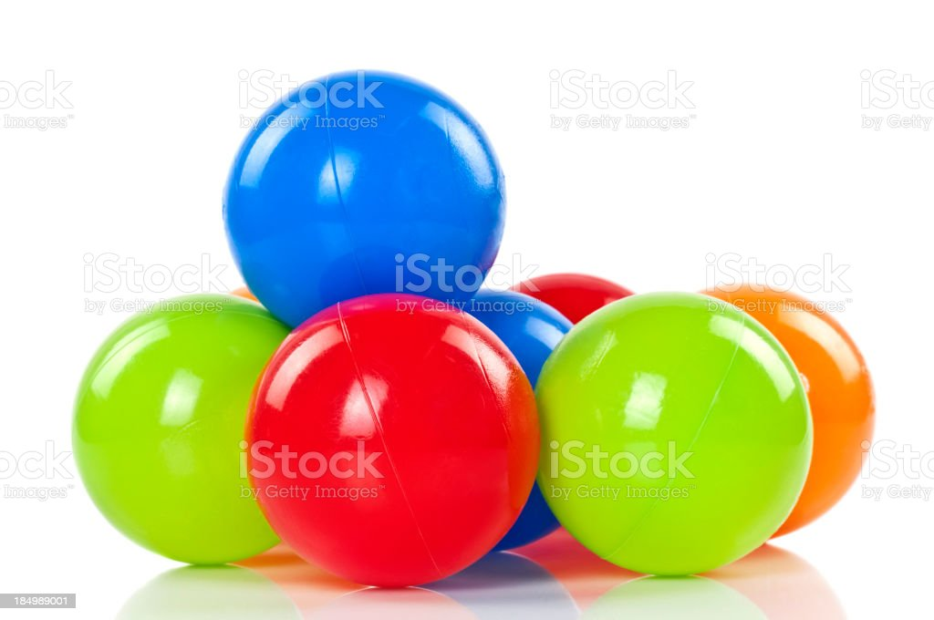 Colorful Toy Balls royalty-free stock photo