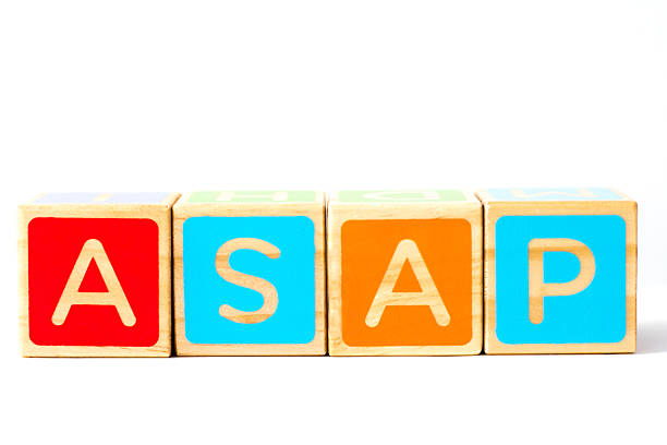 Colorful Toy Blocks Spelling Out