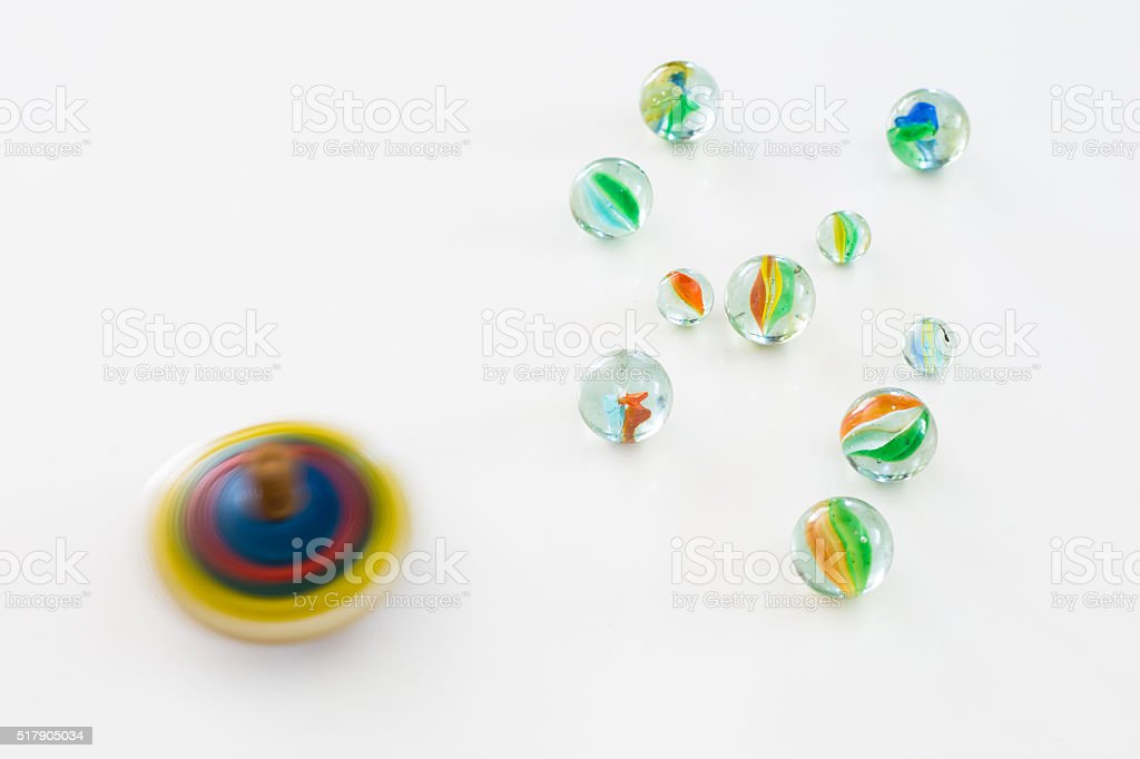 Colorful toys in a white background stock photo