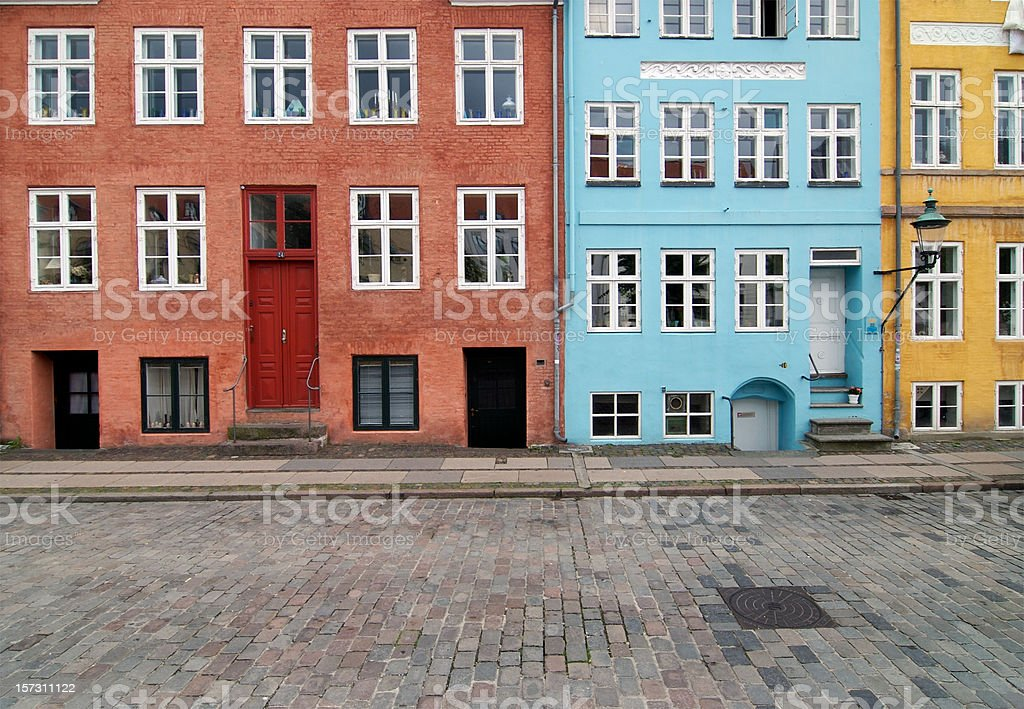 colorful traditional buildings royalty-free stock photo