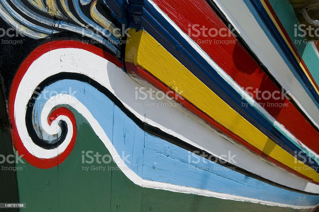 Colorful traditional fisherman boats. royalty-free stock photo
