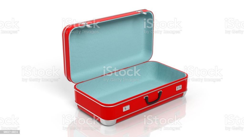 Colorful travel suitcases stock photo