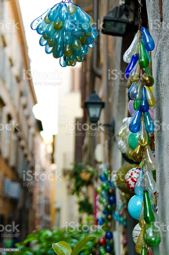 Colorful trinkets made of glass royalty-free stock photo