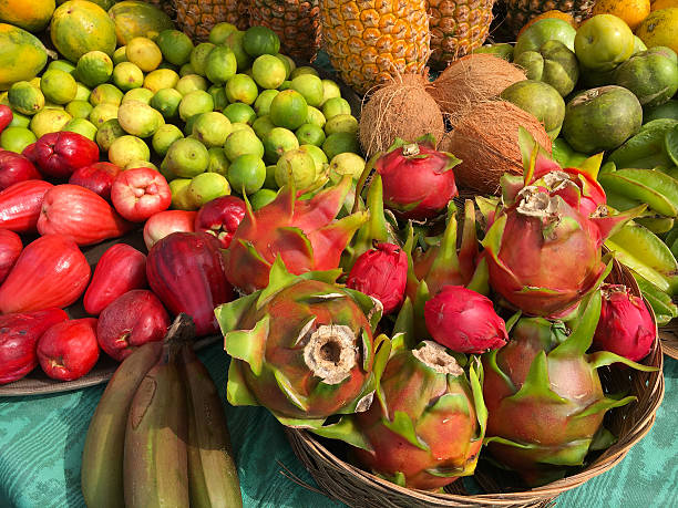 colorful tropical fruit - cactus lime bildbanksfoton och bilder