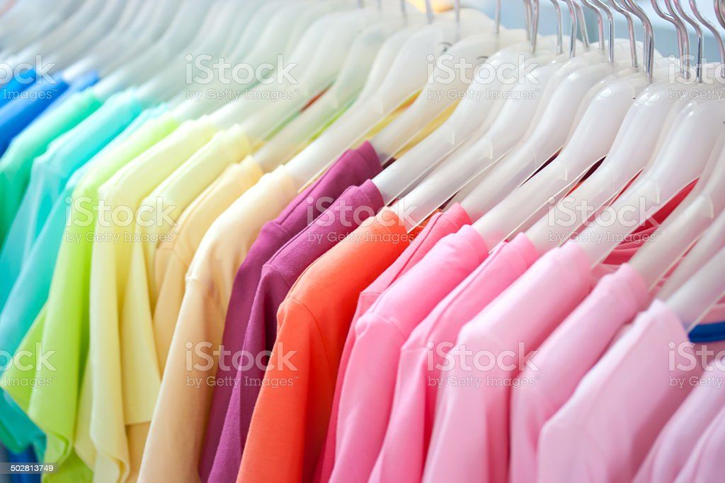 Colorful t-shirt stock photo