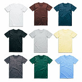 istock Colorful t-shirts collection 1019238802