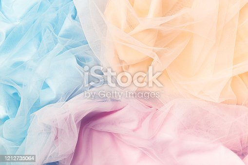 Colorful tulle background