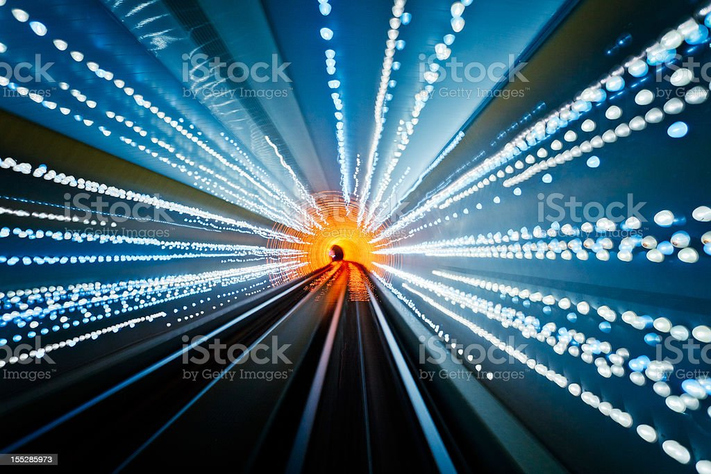 colorful tunnel stock photo