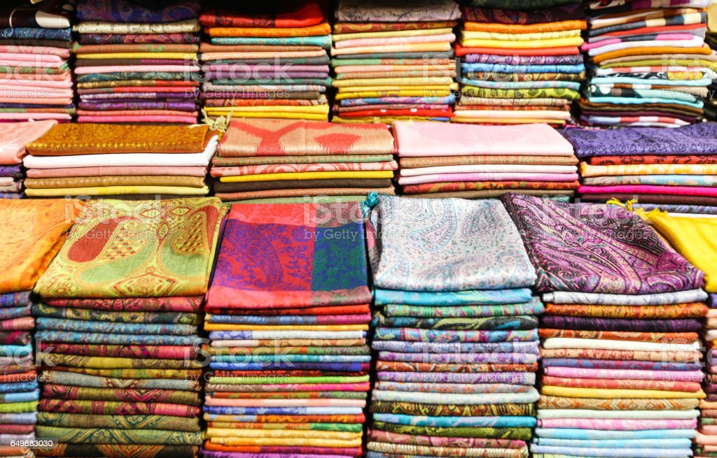 Colorful Turkish Scarfs stock photo
