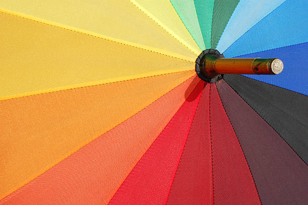 Colorful umbrella stock photo