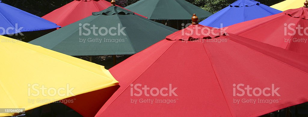 Colorful umbrellas royalty-free stock photo