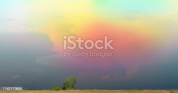 1013154212istockphoto Colorful unreal illumination of clouds by evening sun 1142172604