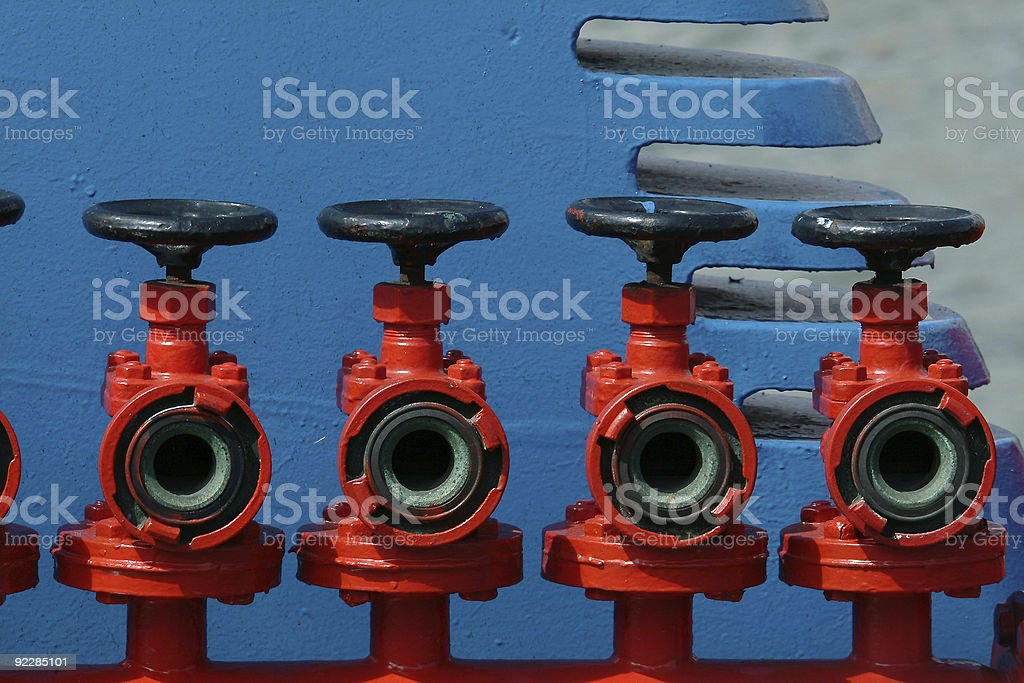 Colorful Valves royalty-free stock photo