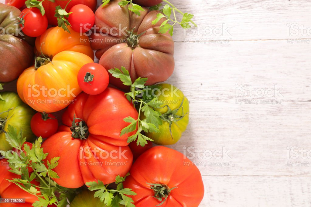 colorful variety of tomatoes royalty-free stock photo