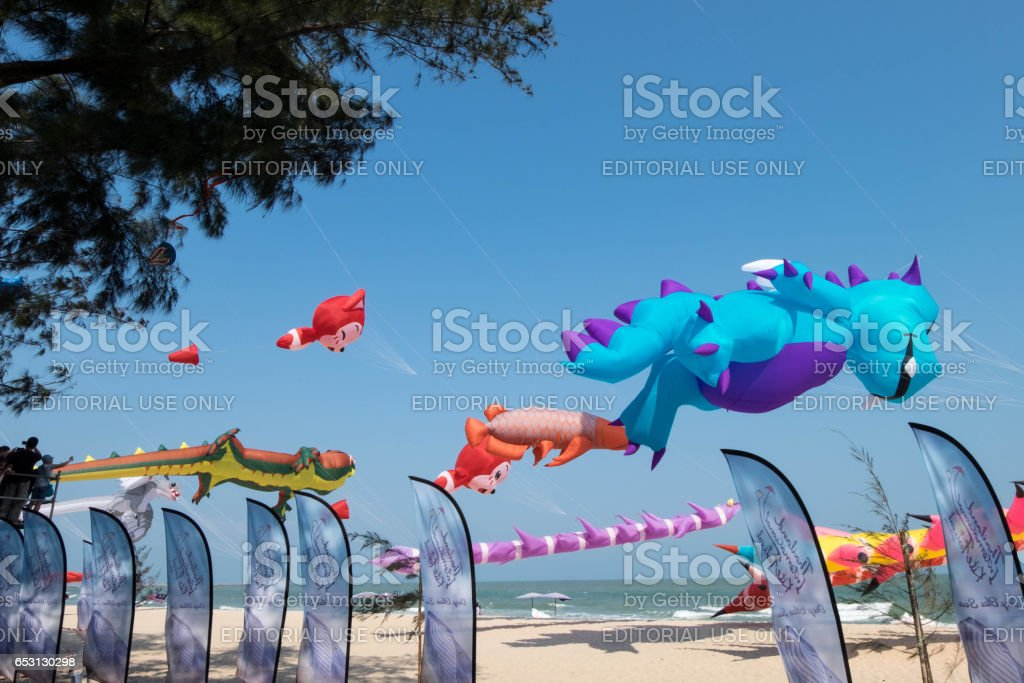 Colorful Various Types Of Cartoon Kites For Example Dinosaur