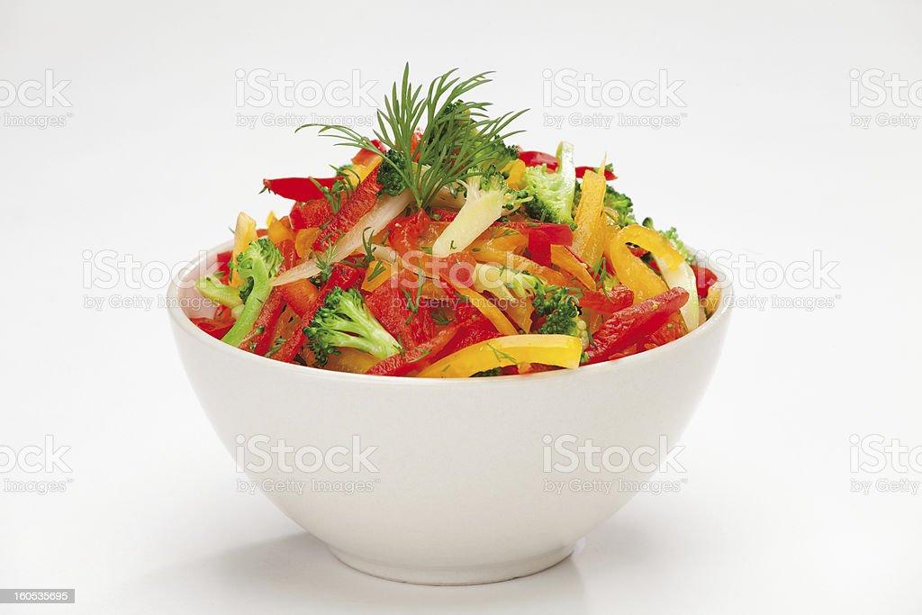 colorful vegetable salad stock photo
