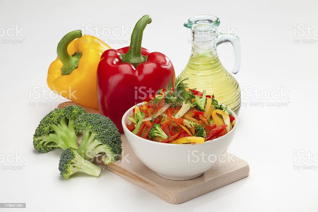 colorful vegetable salad royalty-free stock photo