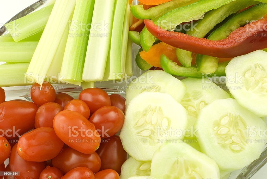 Colorful Vegetables on Plate royalty free stockfoto