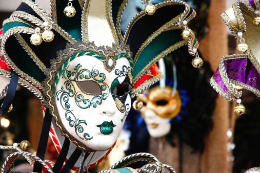 Colorful Venetian carnival masks