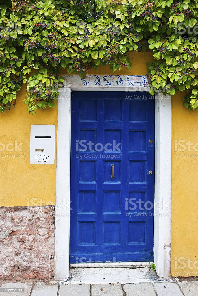 Colorful Venetian house entrance door royalty-free stock photo