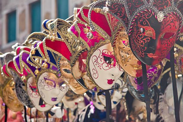 Colorful Venice masks stock photo