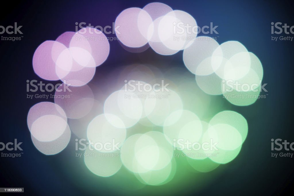 Colorful vibrant abstract disco defocused ornamental lights royalty-free stock photo