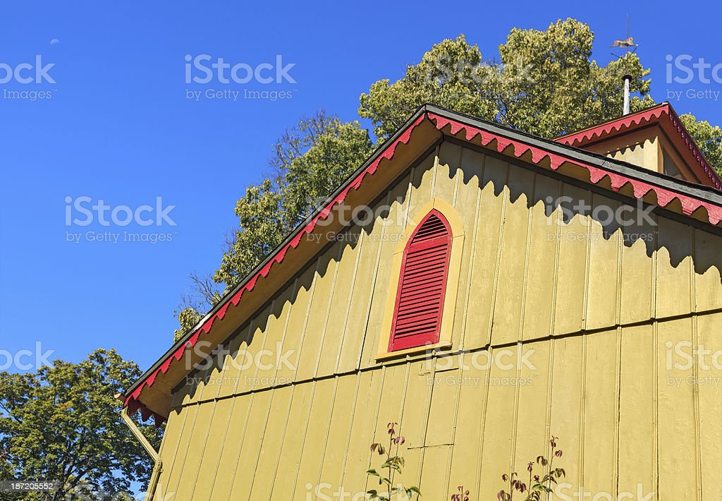 Colorful Victorian Building royalty-free stock photo