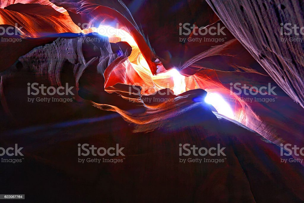 Colorful View in Antelope Canyon stock photo