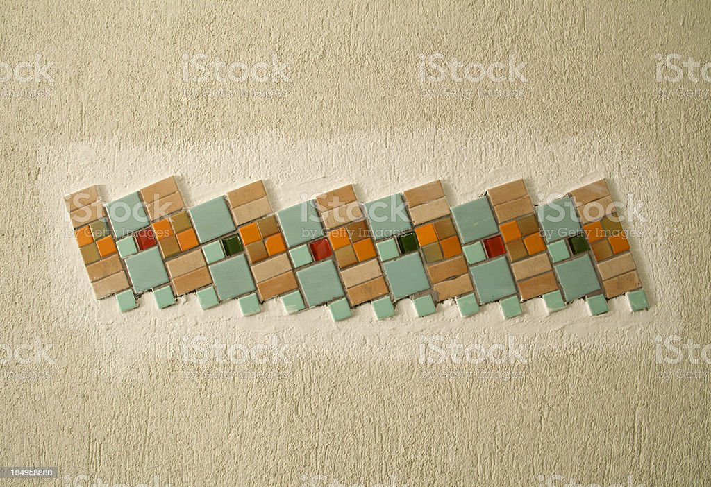 Colorful vintage ceramic tiles wall decoration background. royalty-free stock photo