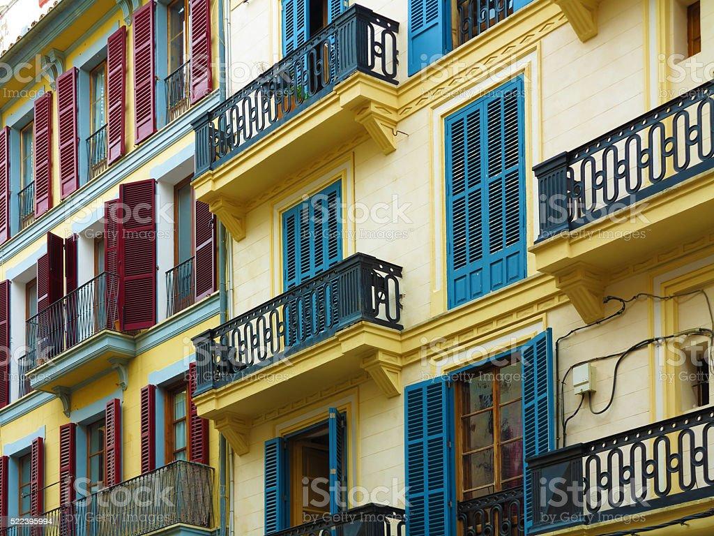 Façades de la maison Vintage coloré - Photo