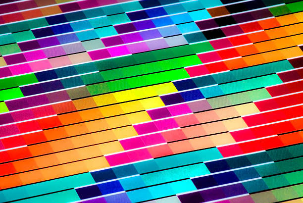 Colorful Vivid CMYK Color Chart for Printing Purposes stock photo
