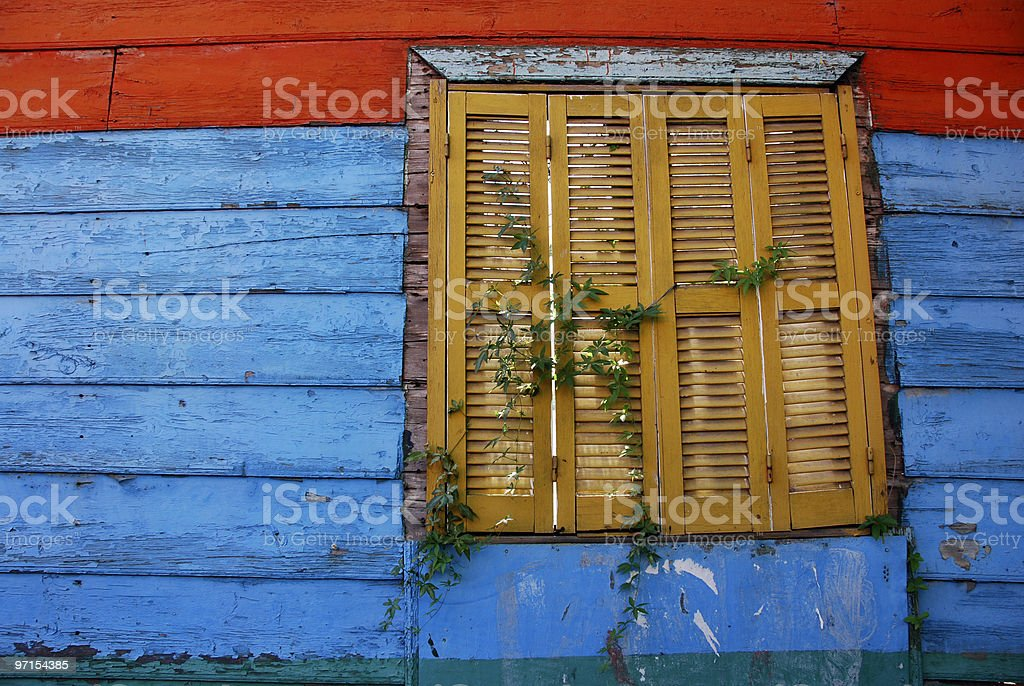 Colorful Wall & Window royalty-free stock photo