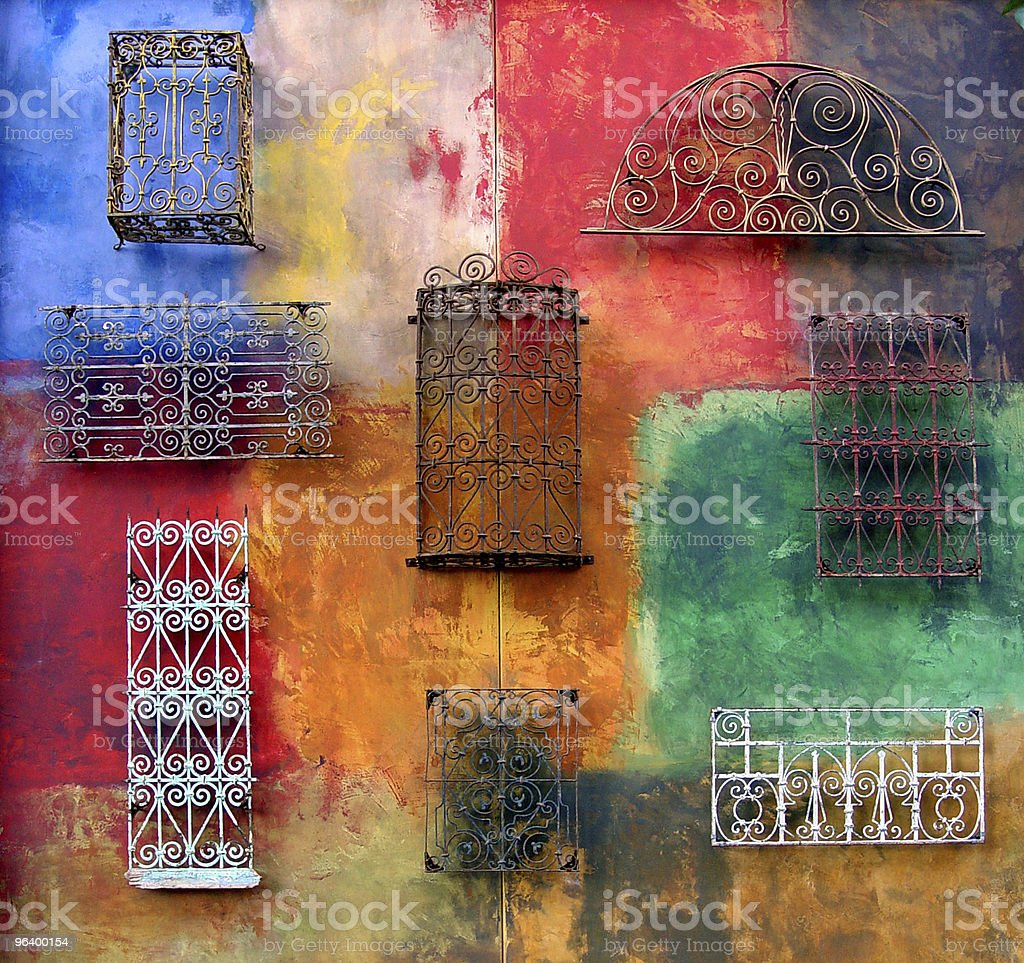 Colorful wall royalty-free stock photo